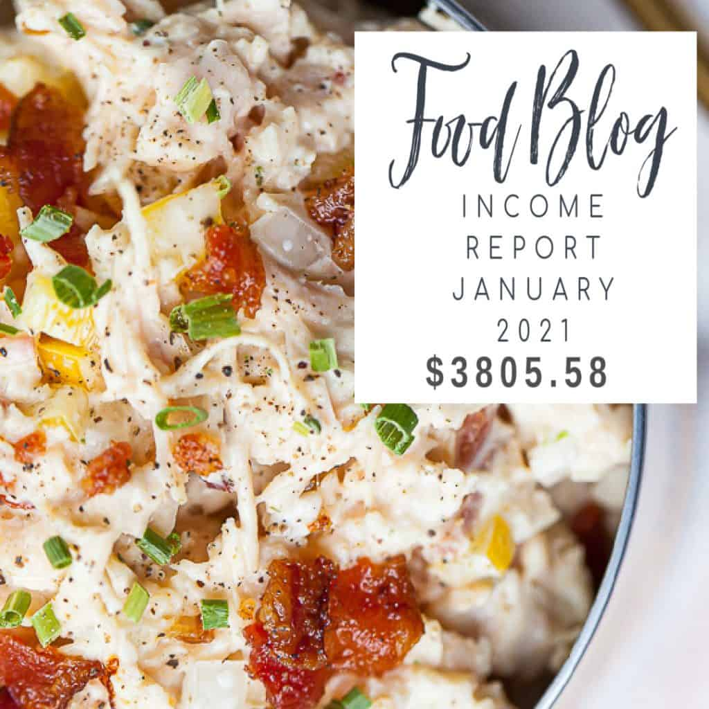 food blog income report january 2021