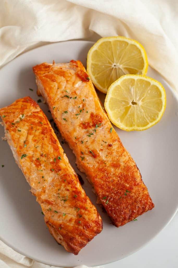 air fryer frozen salmon